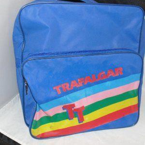 Vintage Trafalgar Rainbow Carry On Bag 80s Retro